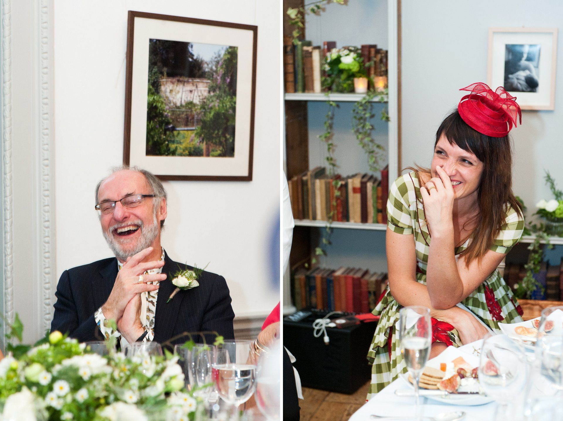 Guests laughing during Fulham Palace speeches