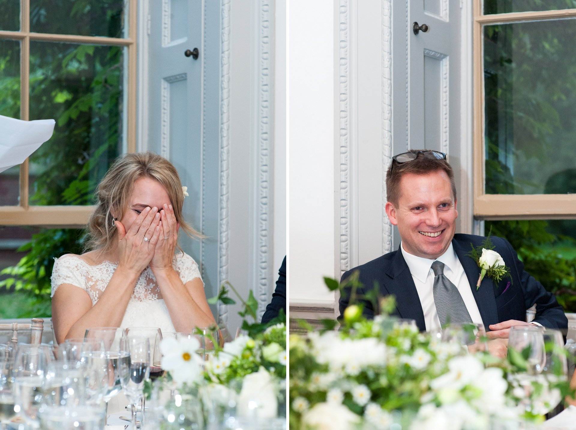Bride & groom react to best man's wedding speech at Fulham Palce