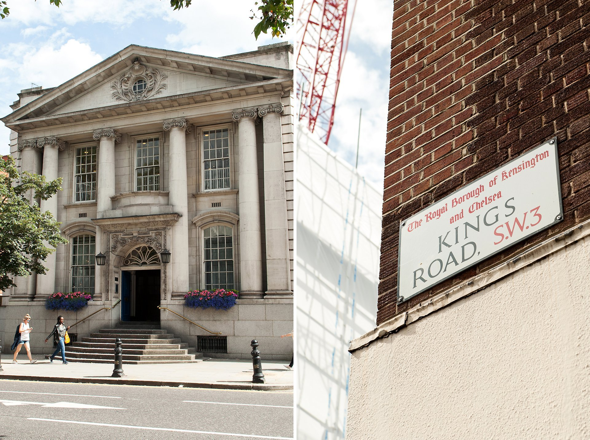 Chelsea Old Town Hall on London's King's Road for civil wedding ceremonies in the Brydon or Rossetti Room