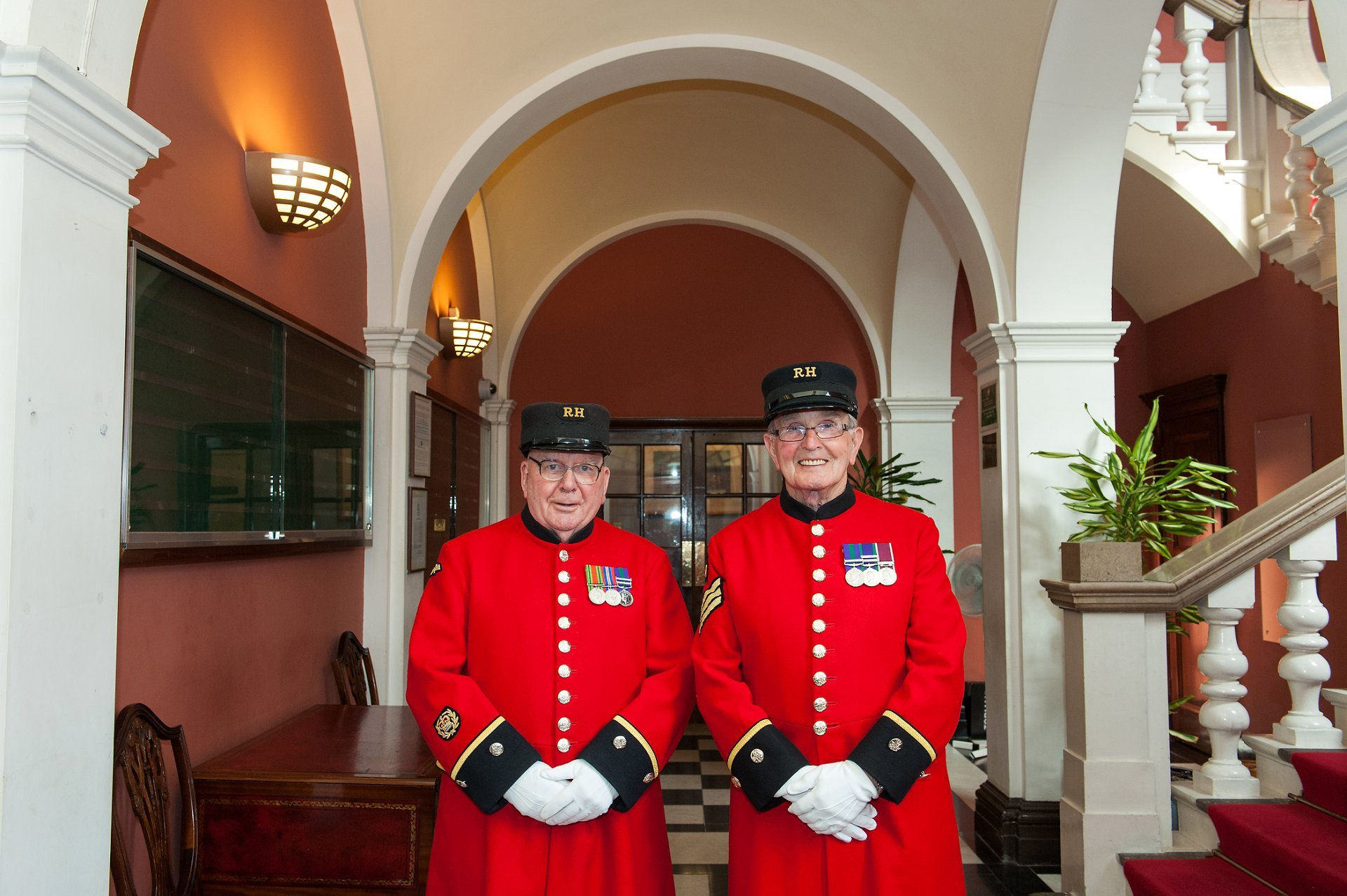Chelsea Pensioners from London's Royal Hospital Chelsea