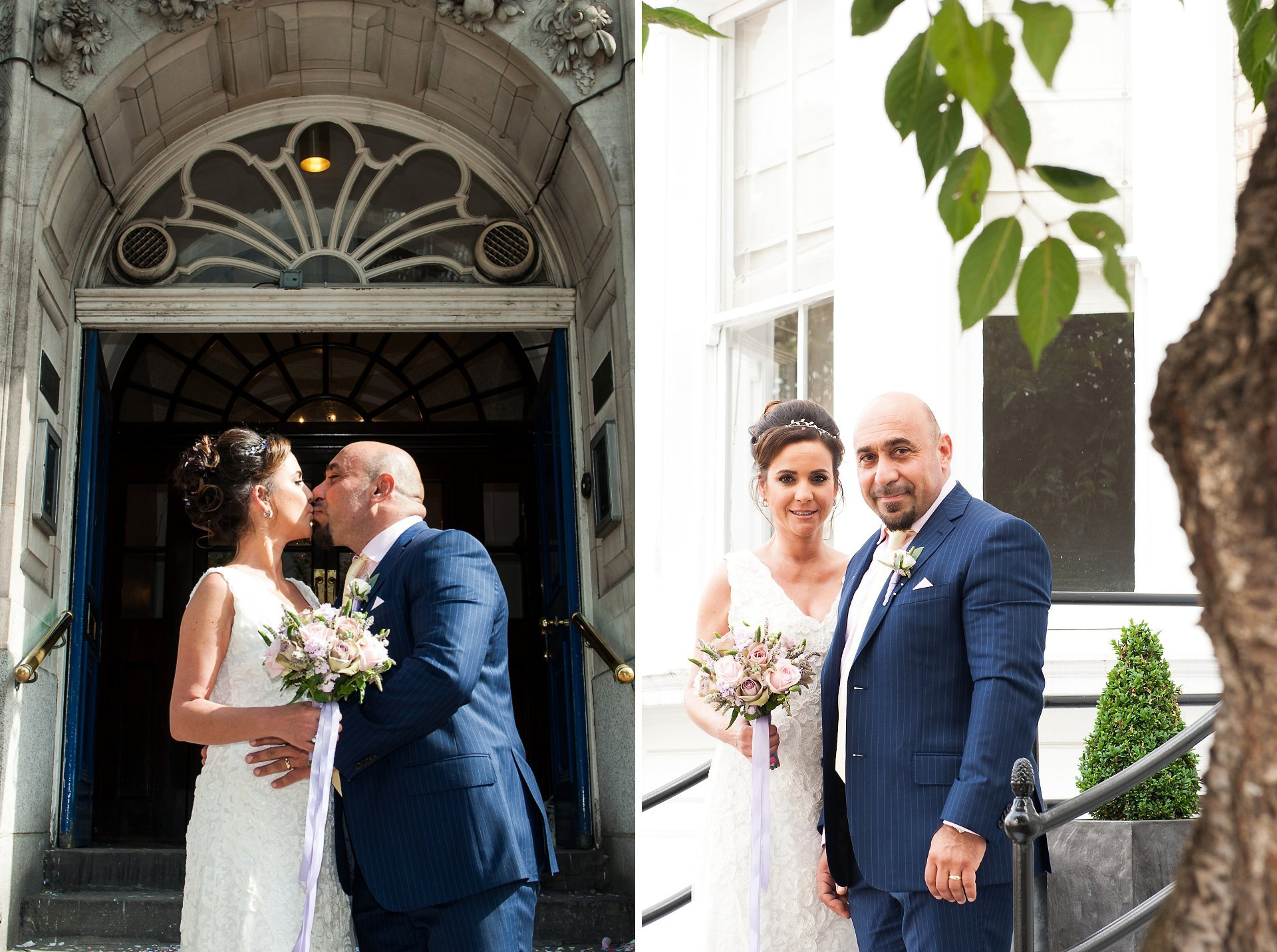 Bride & groom celebrate their Chelsea wedding