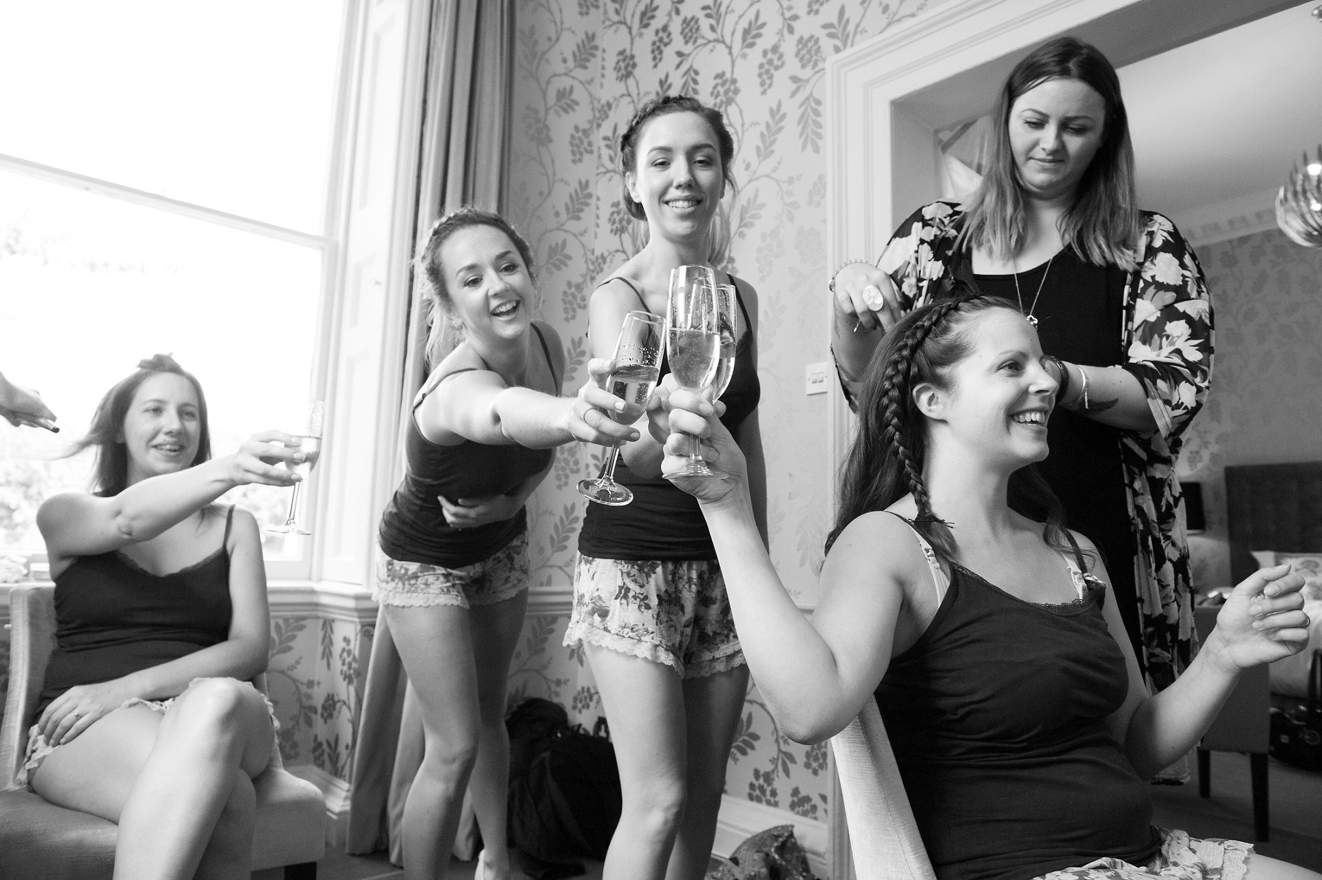 The Cherry Room at Morden Hall is a perfect bridal party preparations space