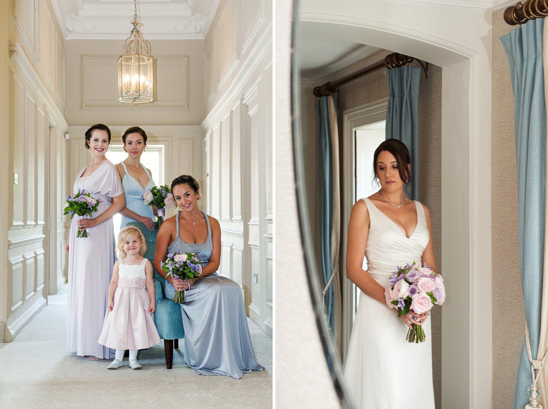 Bride and bridesmaids ready at Morden Hall, a spectacular south London wedding venue