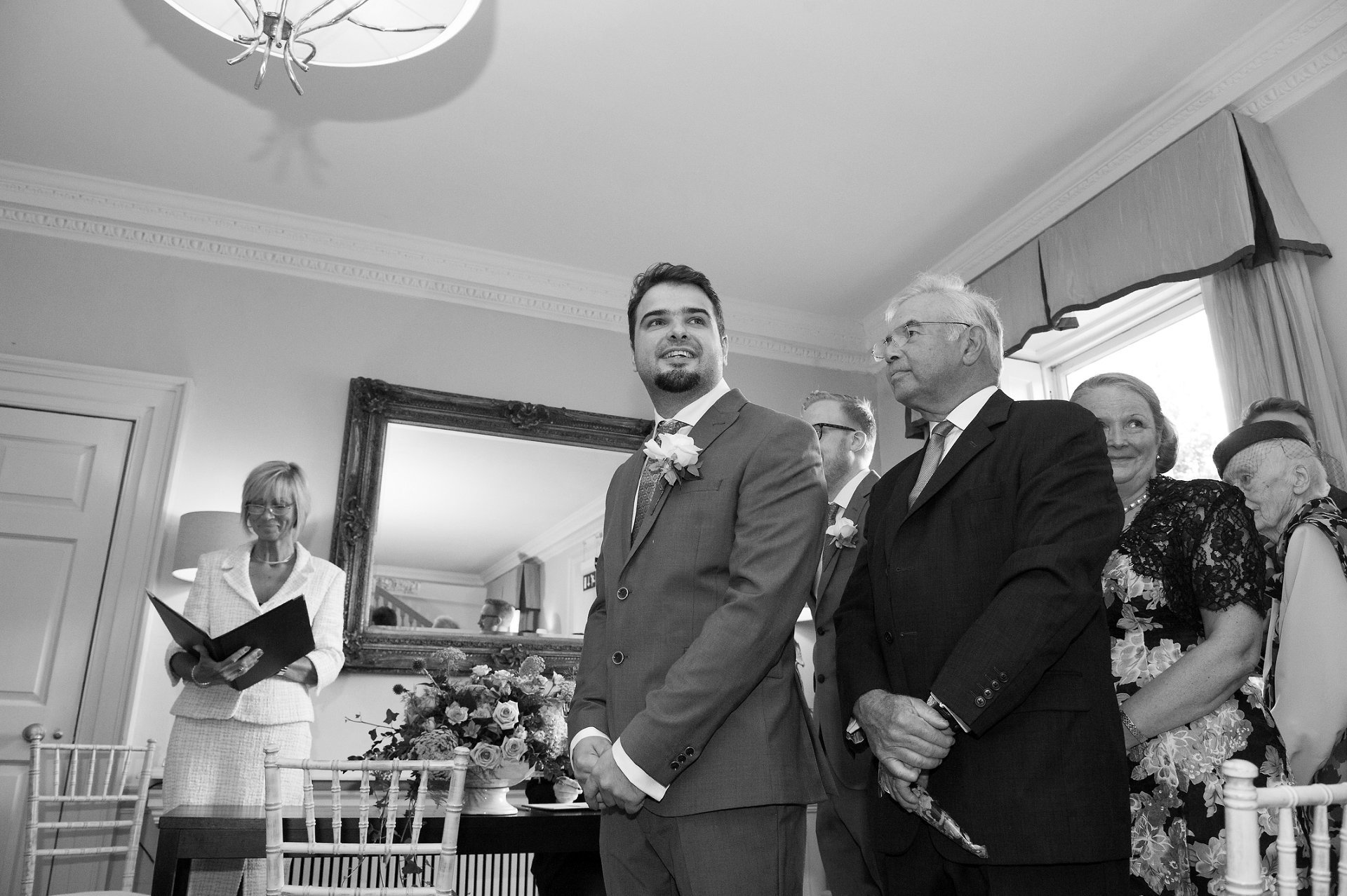 Wedding ceremony in the Willow Room at Morden Hall, perfect wedding venue for up to 120 guests