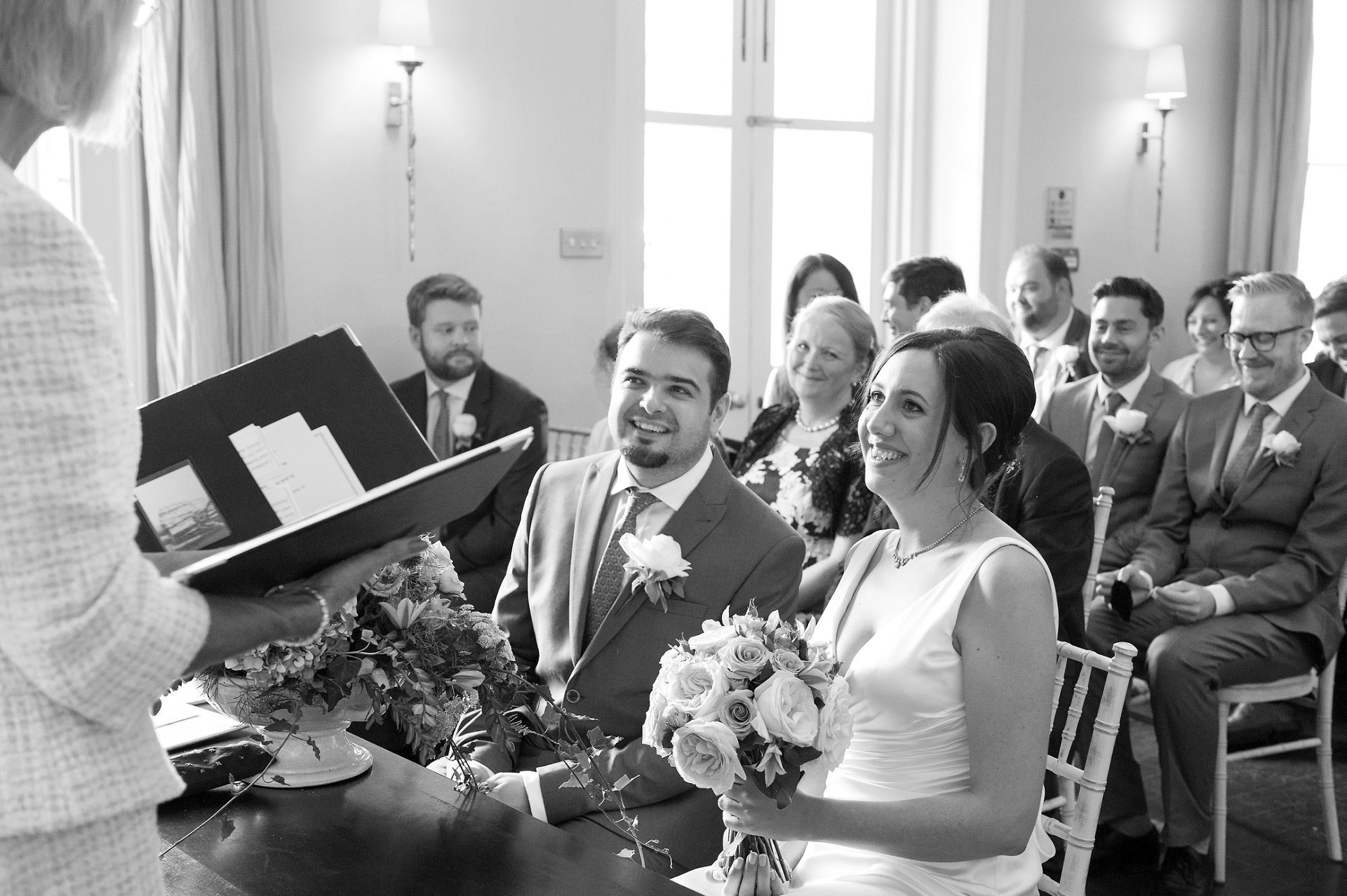 Ceremony in the Willow Room at Morden Hall