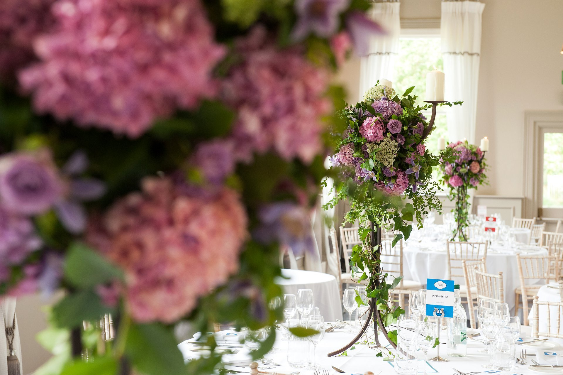 Floral centrepieces by Simon Nickell Designs