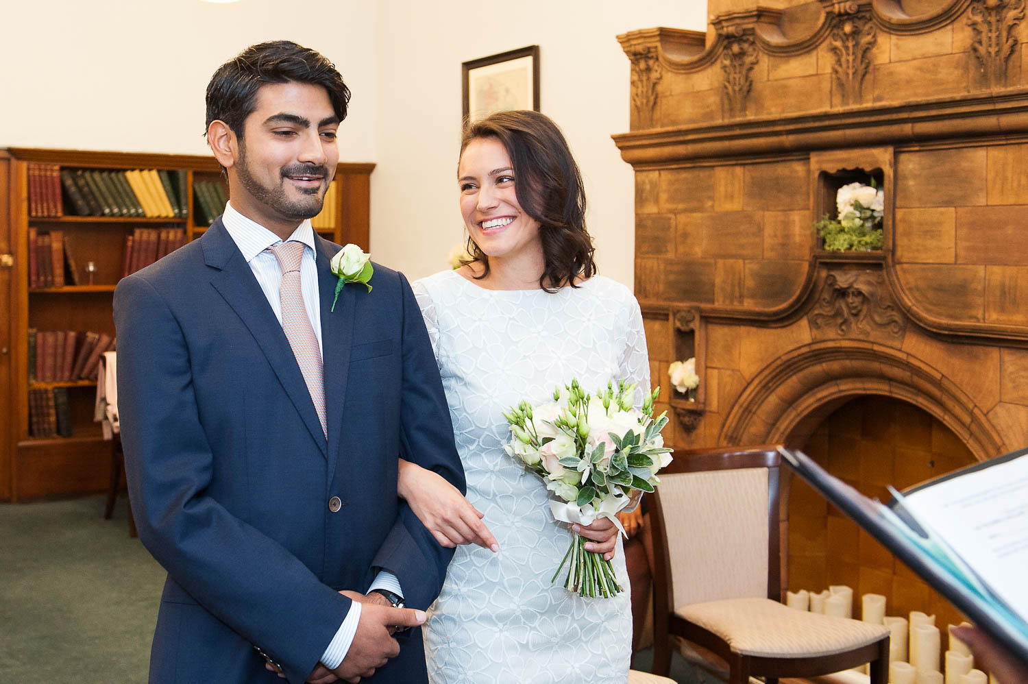 Mayfair Library wedding photographer Emma Duggan photographs small weddings with small photography packages.