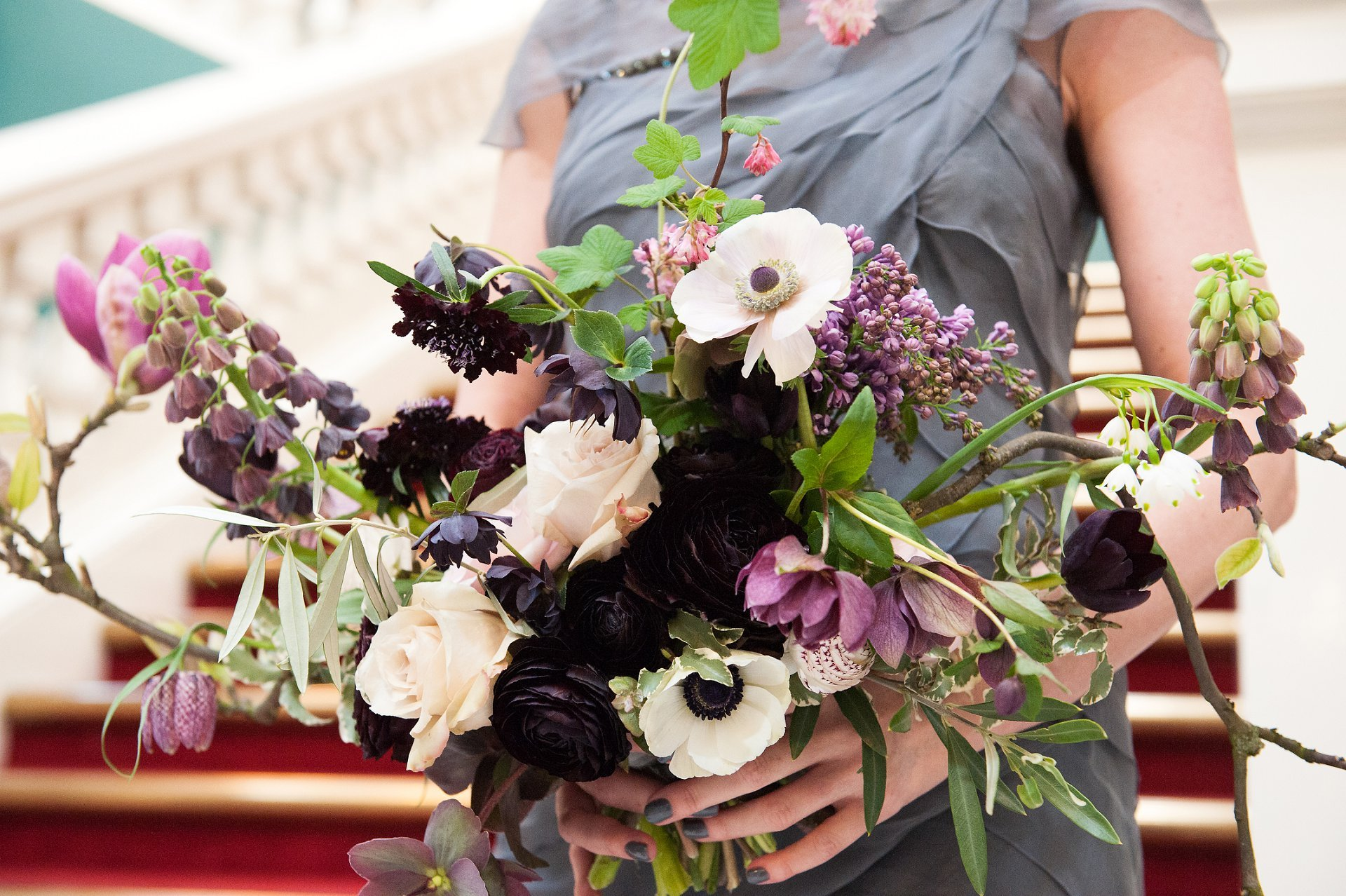Blackheath florist Bloomologie created this stunning bridal bouquet for a Greenwich bride getting married at Woolwich Town Hall, in south London.
