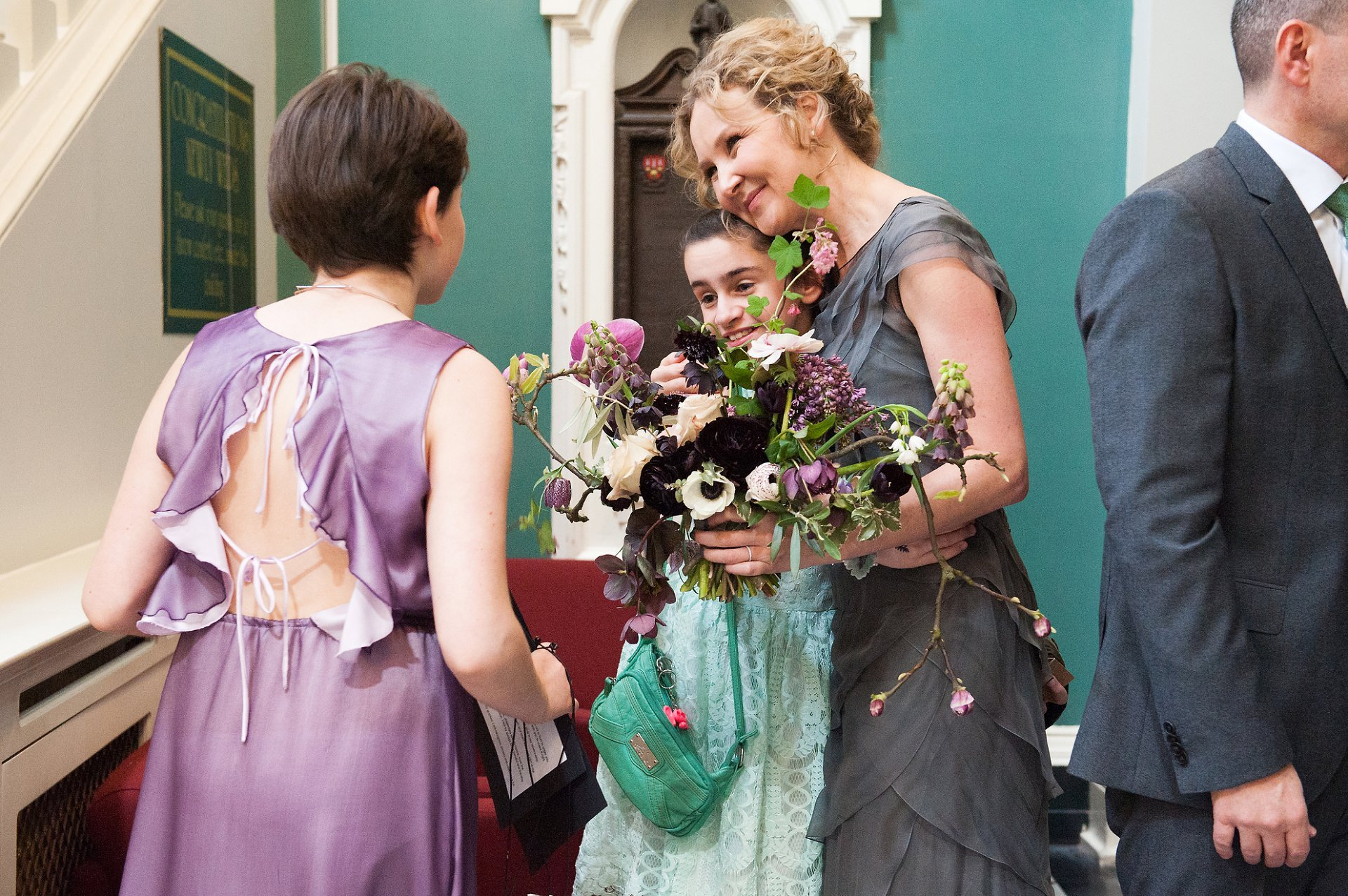 Bride celebrates her wedding at Woolwich Town Hall