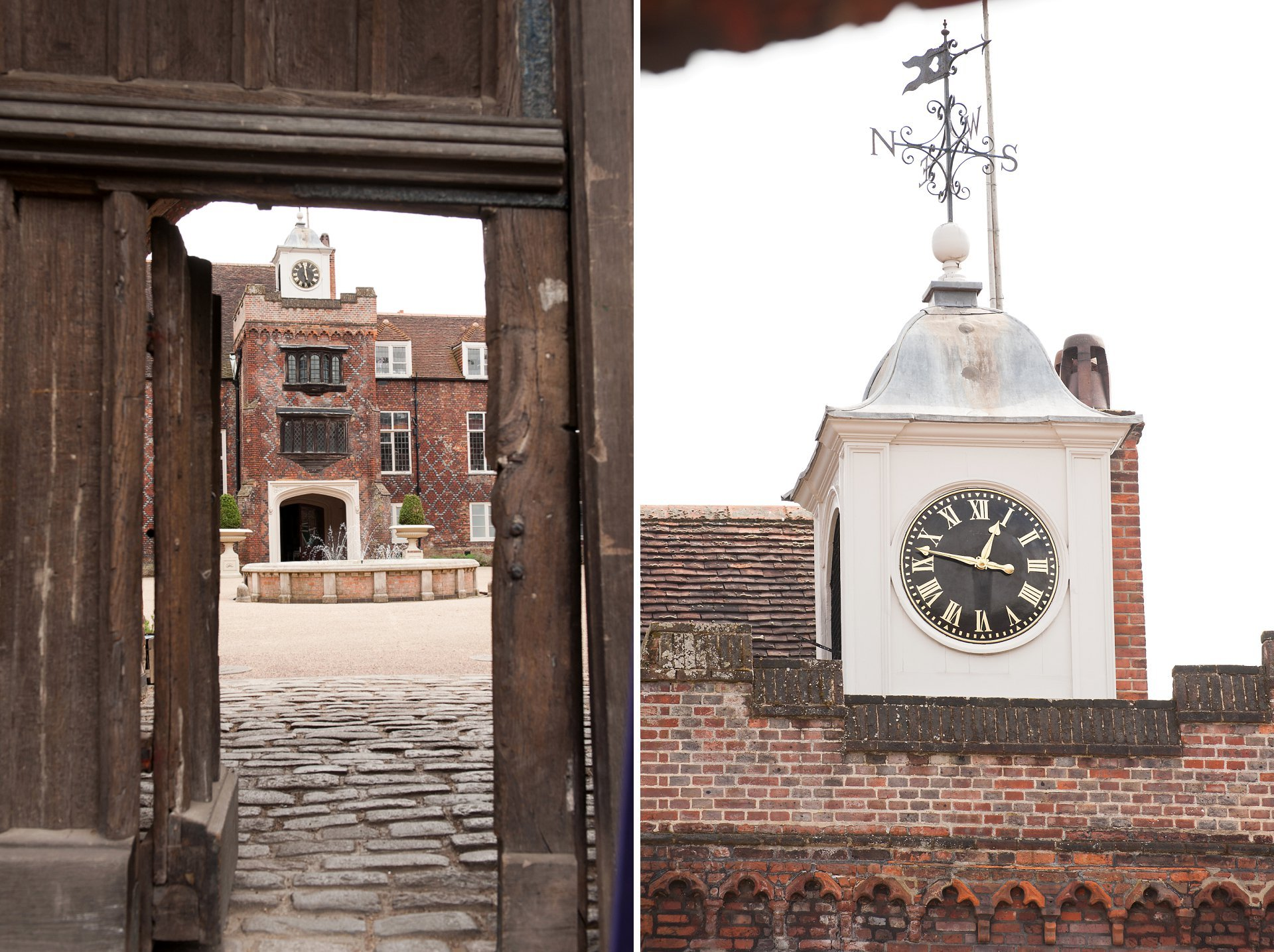 Grade I listed Fulham Palace's ourtyard and clock tower