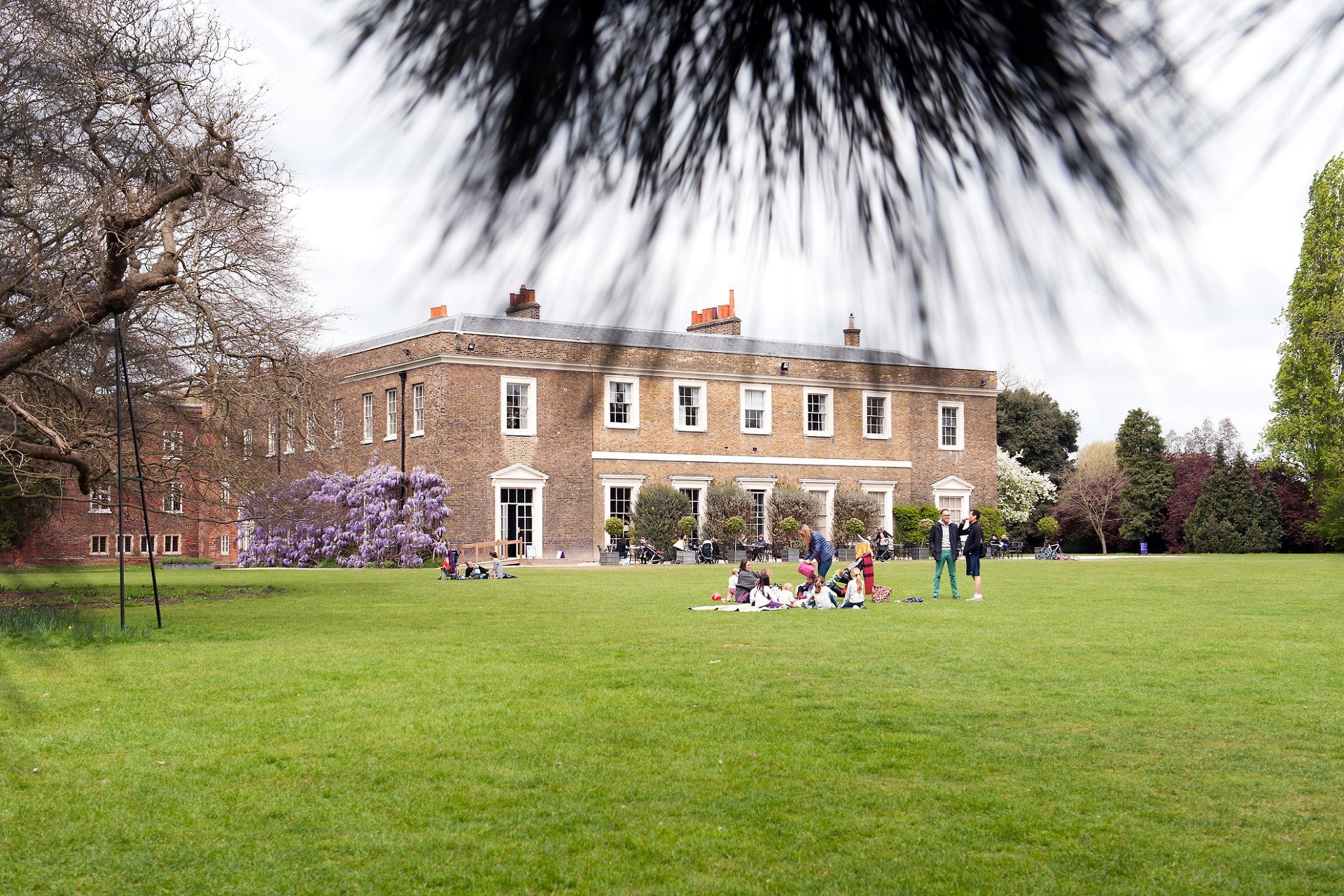 The main lawn at Fulham Palace in Spring is open to the public until 5pm every day