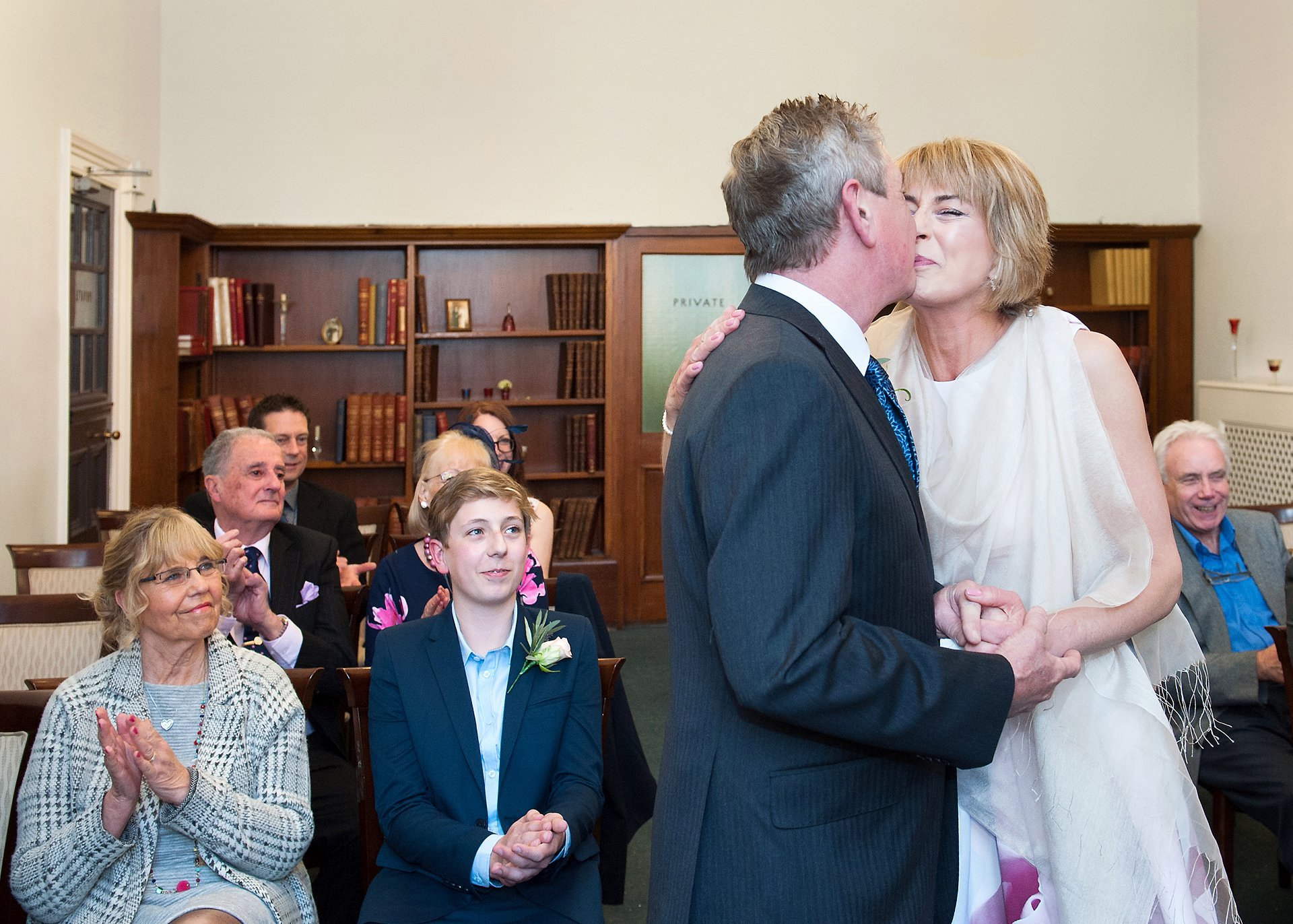 Sealed with a kiss - a civil marriage ceremony in London's Mayfair Library