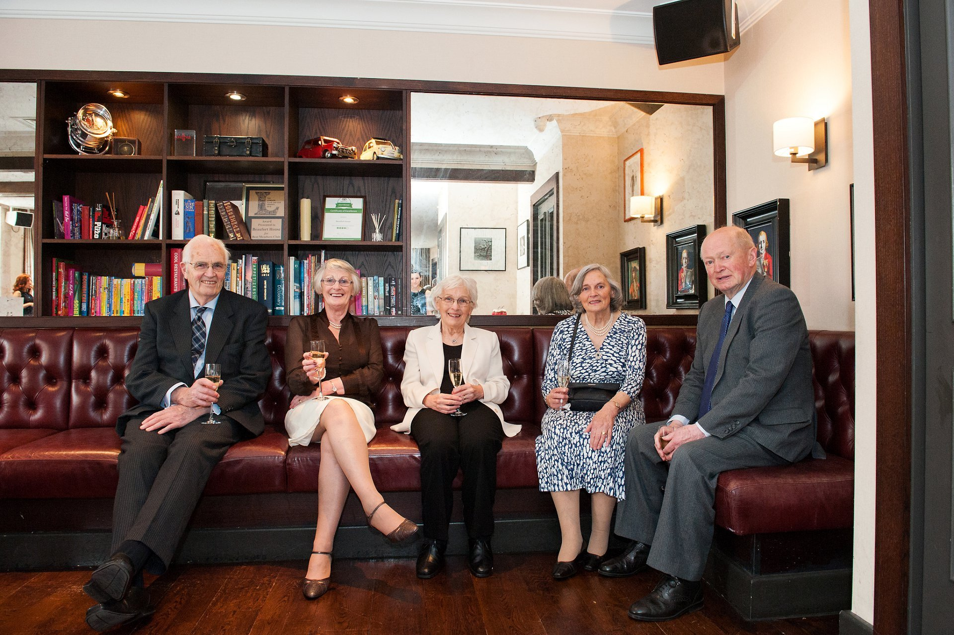 George's family during the champagne reception at Beaufort House