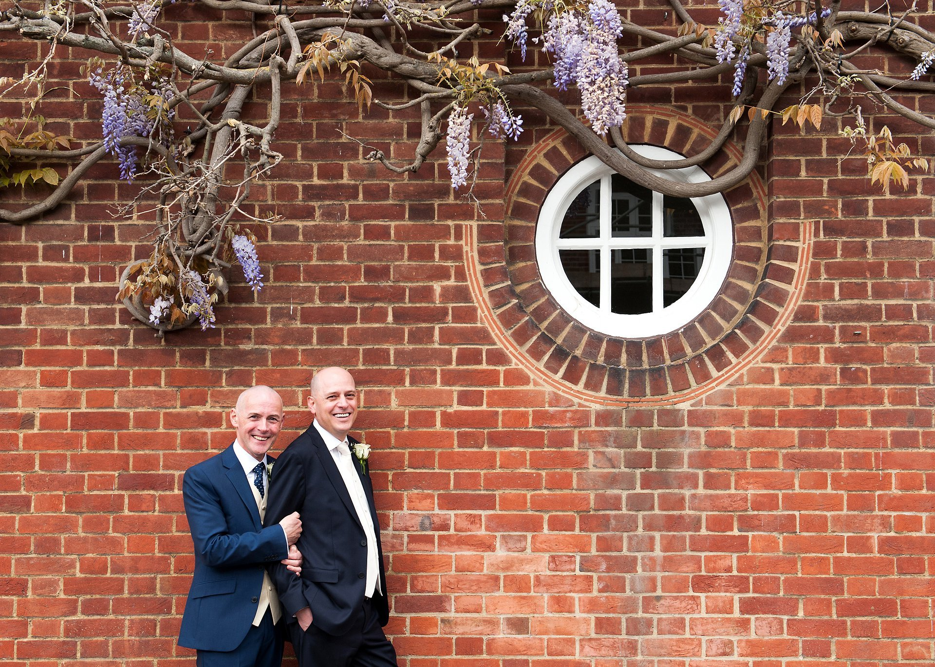 George and Jose in Chelsea after their Spring wedding at Chelse Old Town Hall