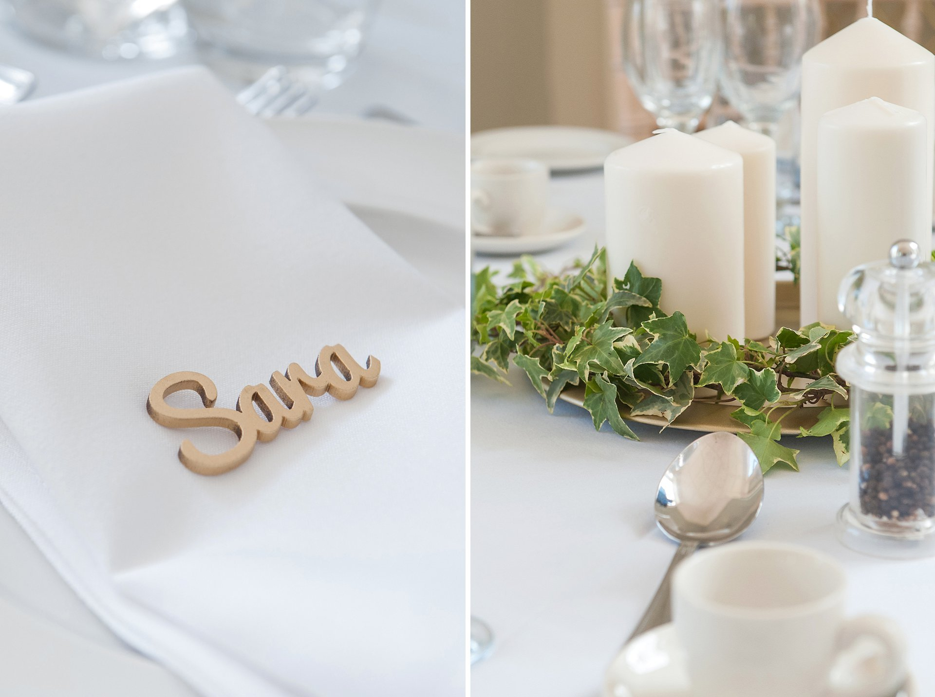 Table decorations at Starborough Manor
