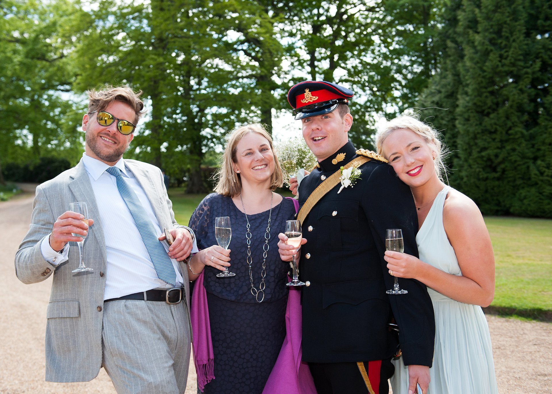 Groom with guests at Starborough Manor