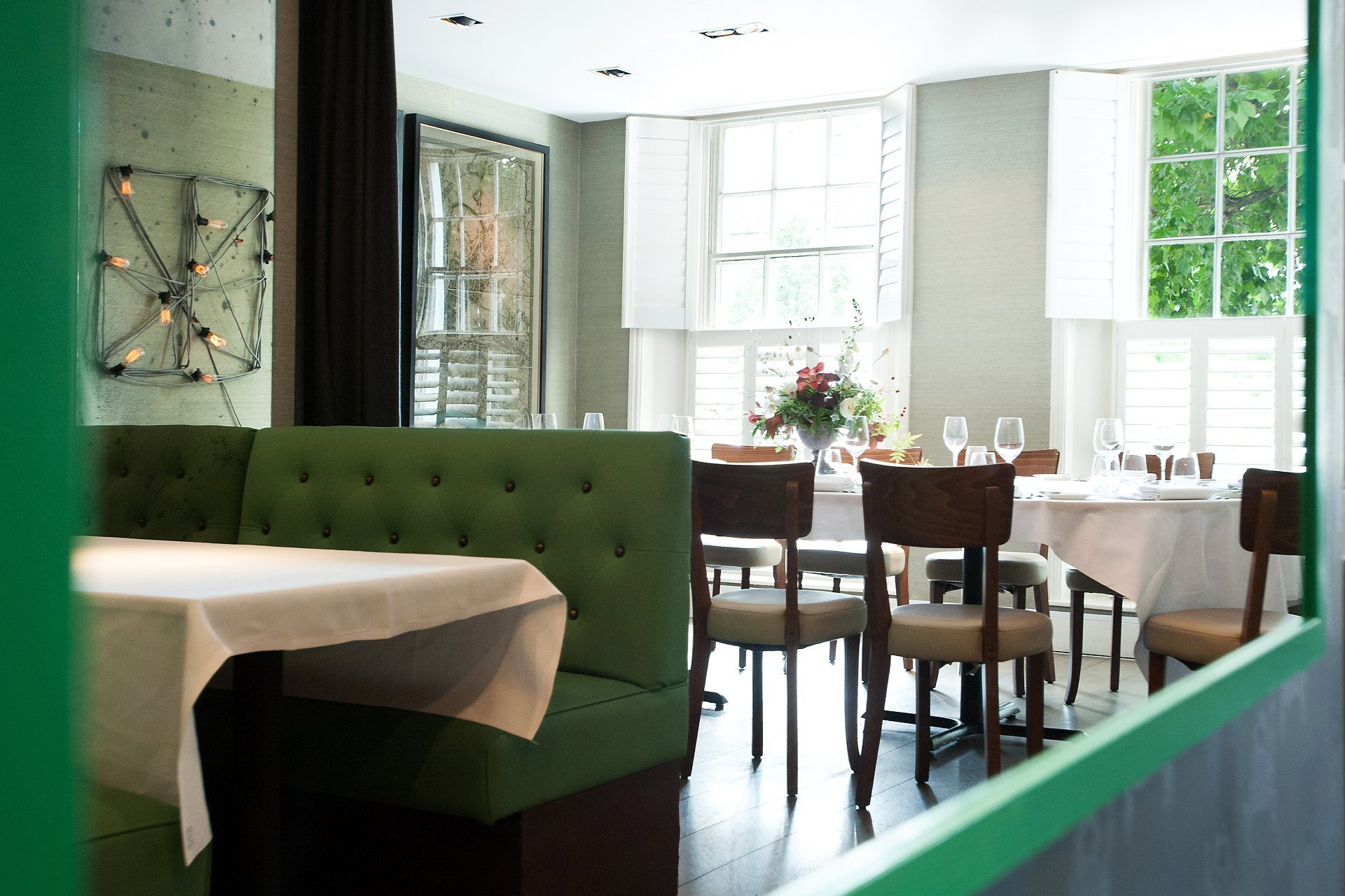 The private dining room at Medlar restaurant on the first floor with seating for up to 25 people is a fabulous Chelsea venue for small weddings, anniversaries and birthdays and has an award-winning pedigree and a very loyal following