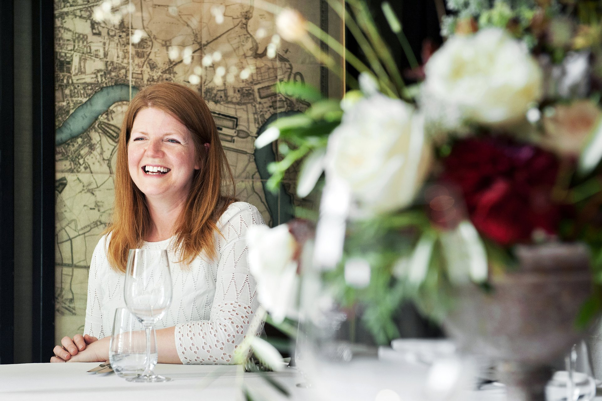 London Florist Bloomologie - Blackheath florist Ali Billenness photographed by London register office specialiat photographer Emma Duggan. Alison supplies contract flowers and bespoke floral designs for weddings, anniversaries, parties and events throughout London