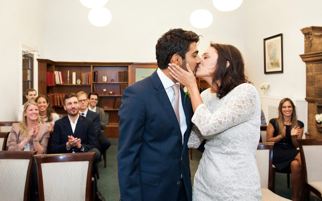 Mayfair Library Rainy Wedding Photography
