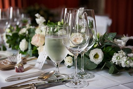 A table setting at Leeds Castle