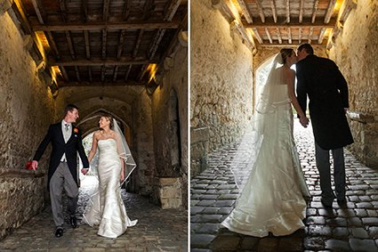 Gatehouse wedding photographs at Leeds Castle work beautifully for silhouette shots