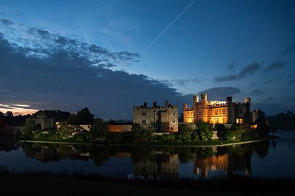 Leeds Castle wedding photographer - a final view of Leeds Castle at night