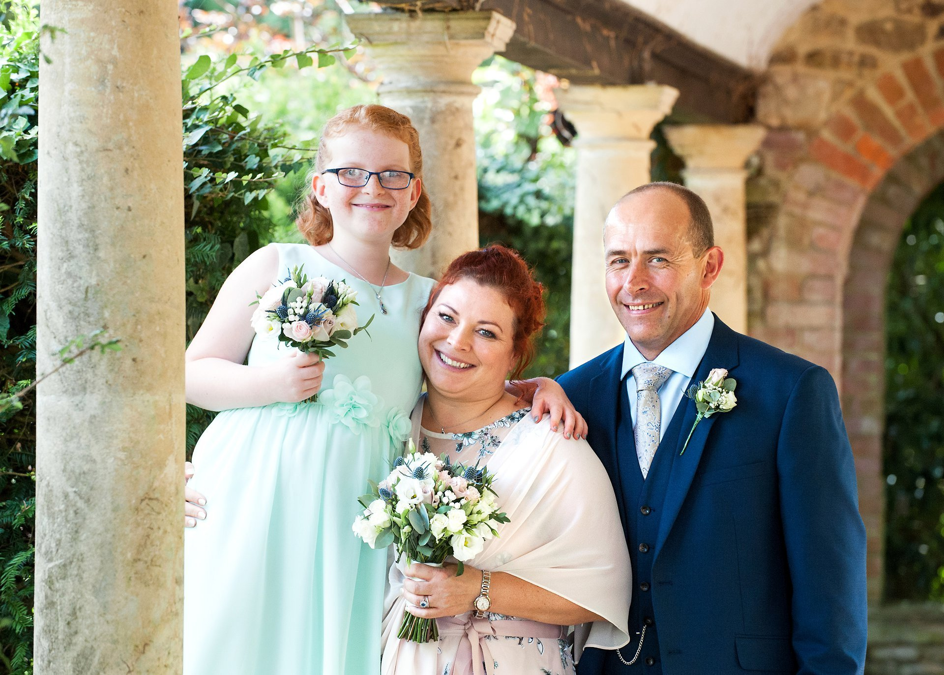 A family from New Zealand celebrate their West Sussex wedding at Ghyll manor near Horsham