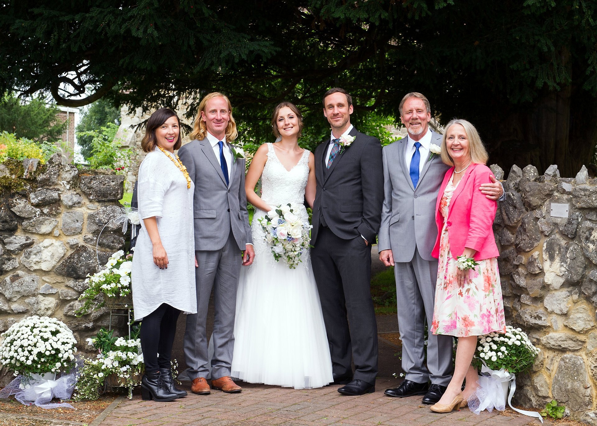 Family group photography at St Peter's Church, Ditton (Kent)