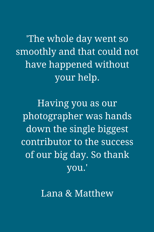 Chelsea Old Town Hall wedding photography testimonial for Emma Duggan.