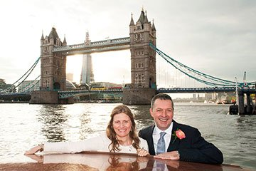Thames Limo river boat experience for brides and grooms after their London register office weddings.