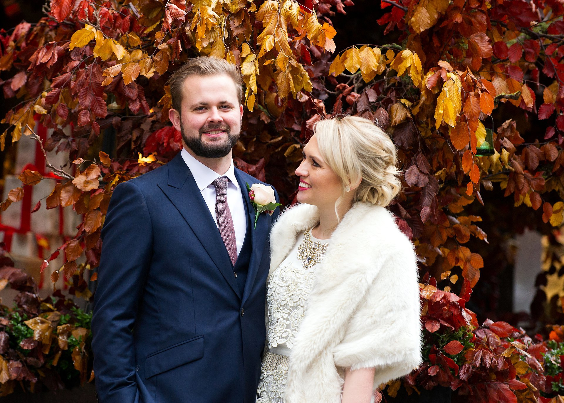 a bride and groom celebrate their recent mayfair library wedding