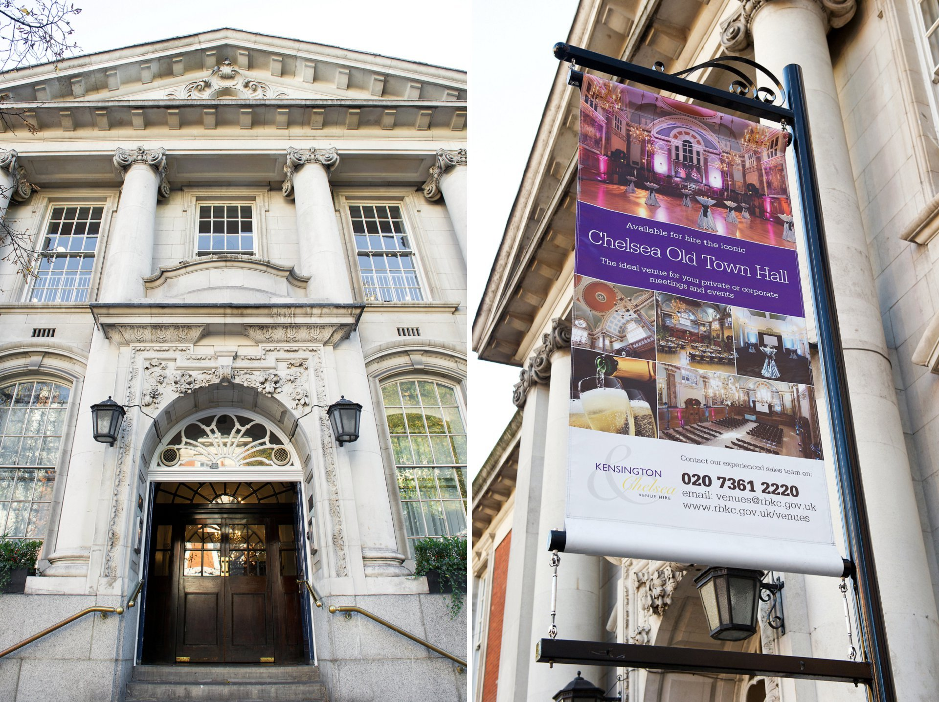 chelsea old town hall is a luxury chelsea wedding venue