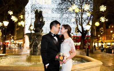 Chelsea Old Town Hall Christmas Wedding