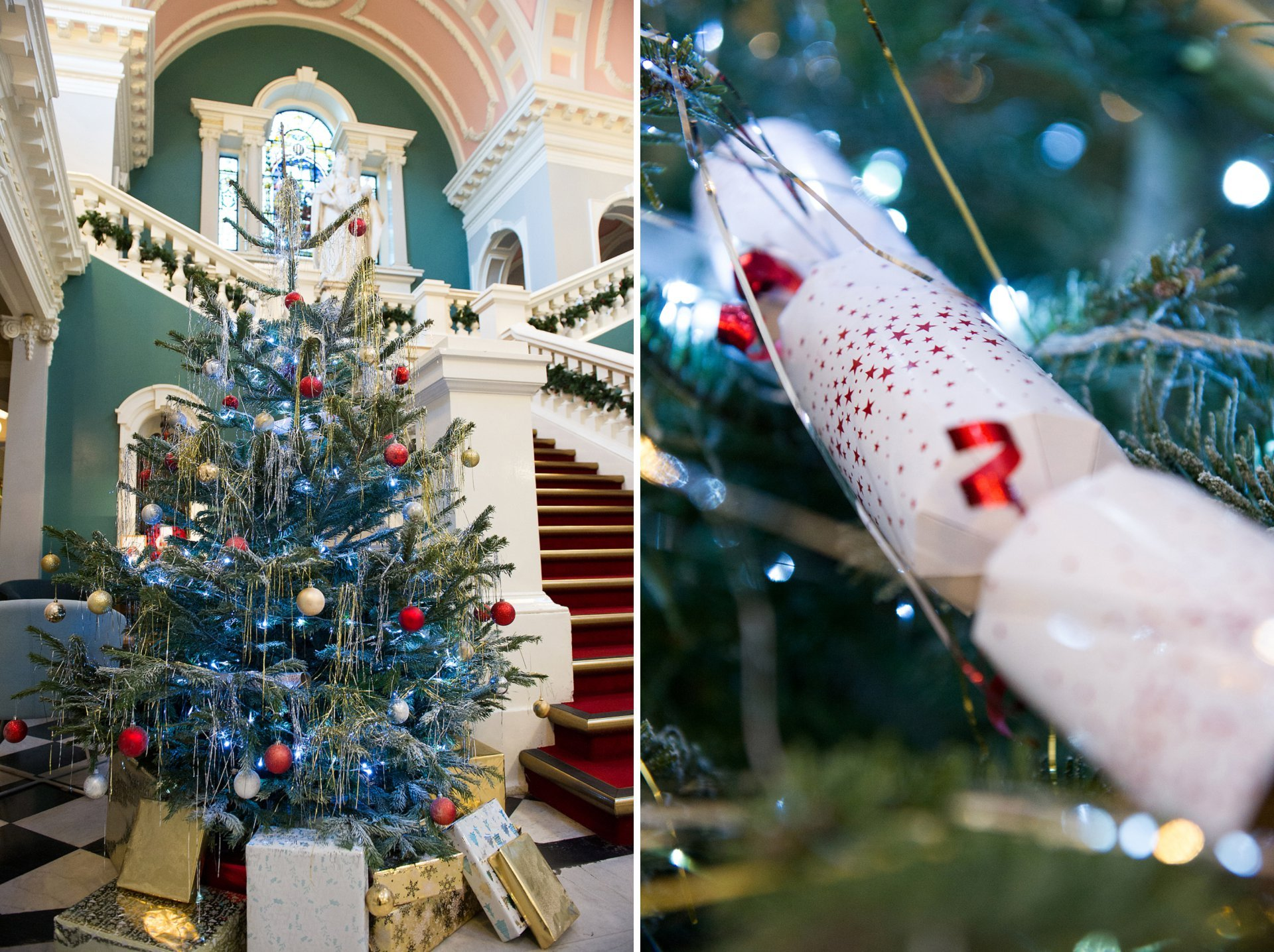 Christmas tree at Woolwich Town Hall
