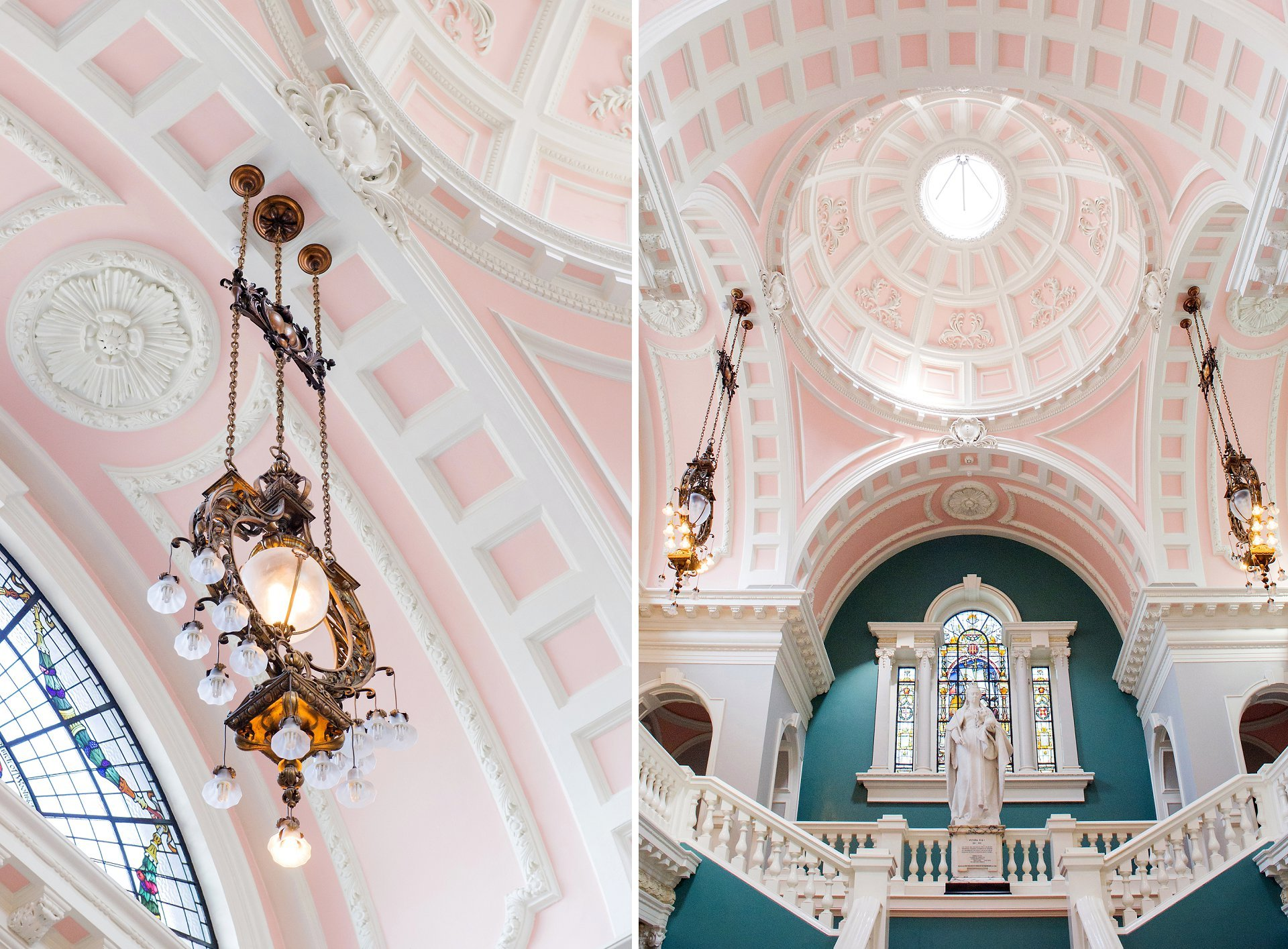 Jade and pink interiors at Woolwich Town Hall