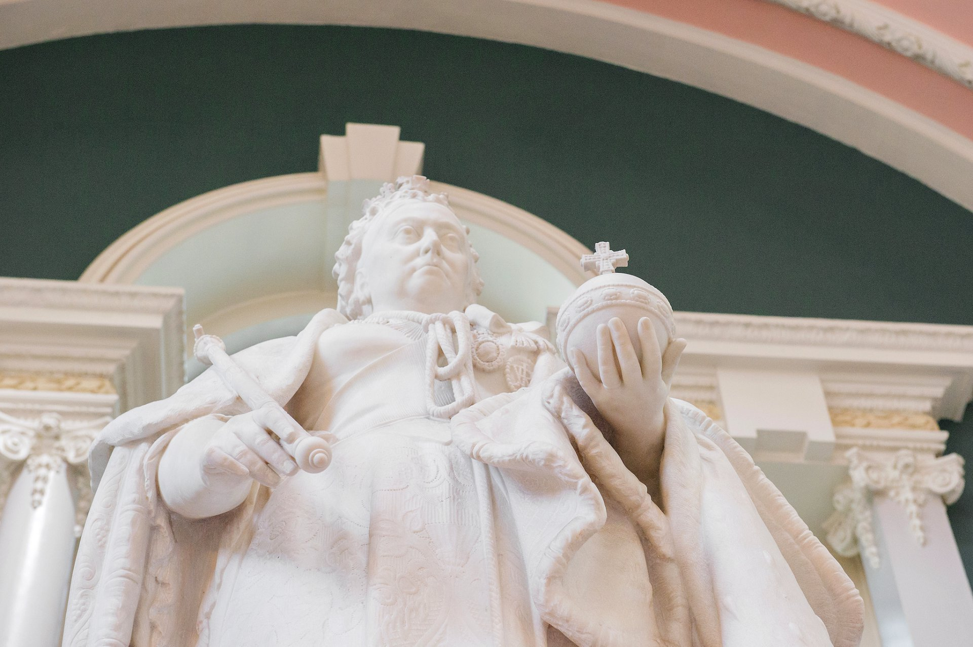 Queen Victoria statue in the Victoria Hall at Woolwich Town Hall