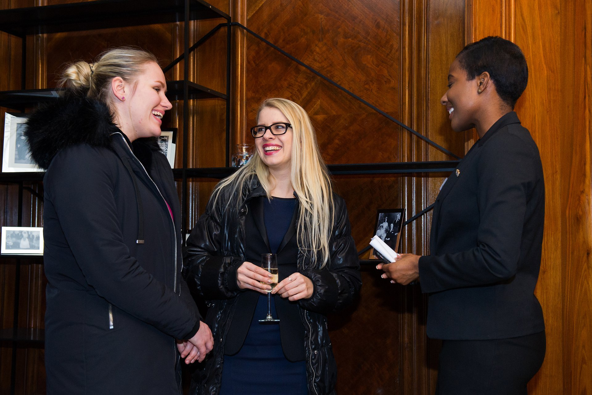 Wedding suppliers talk to a Westminster Registrar during the Marylebone Town Hall reopening in the newly refurbished Marylebone Room