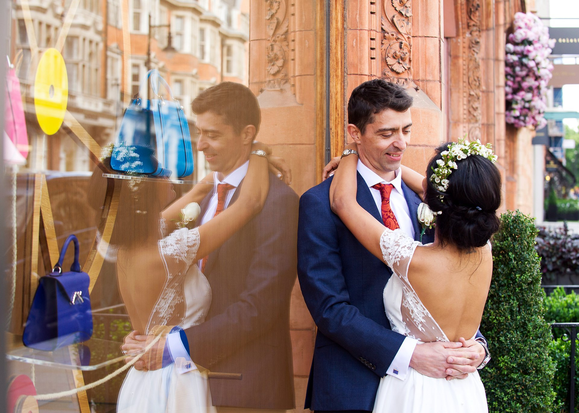 chic french wedding near old marylebone town hall