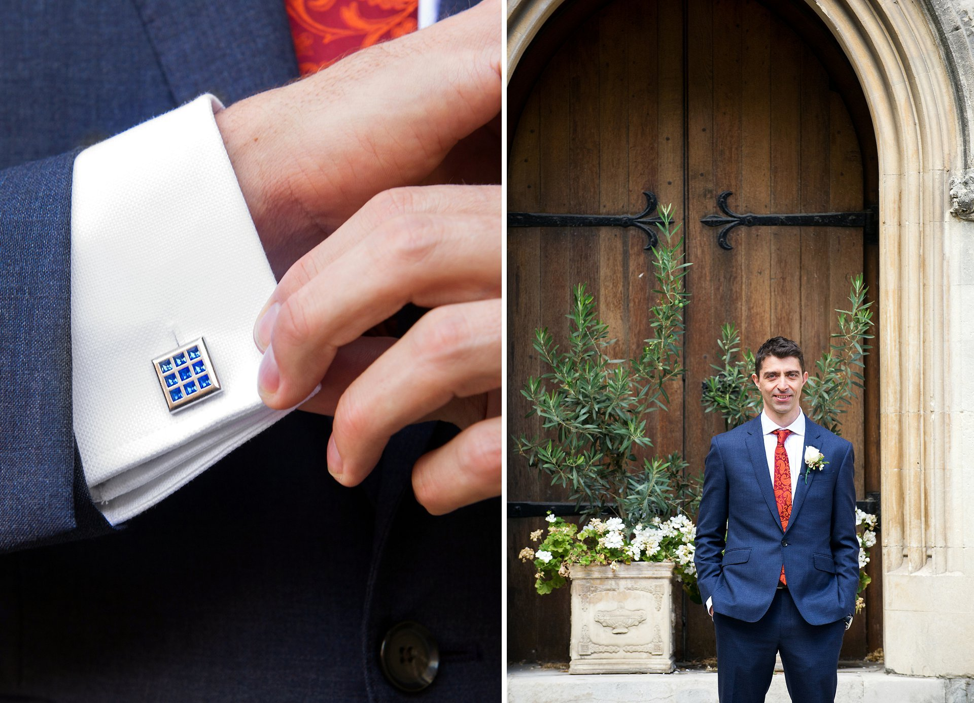groom just before his australian wedding at westminster register office