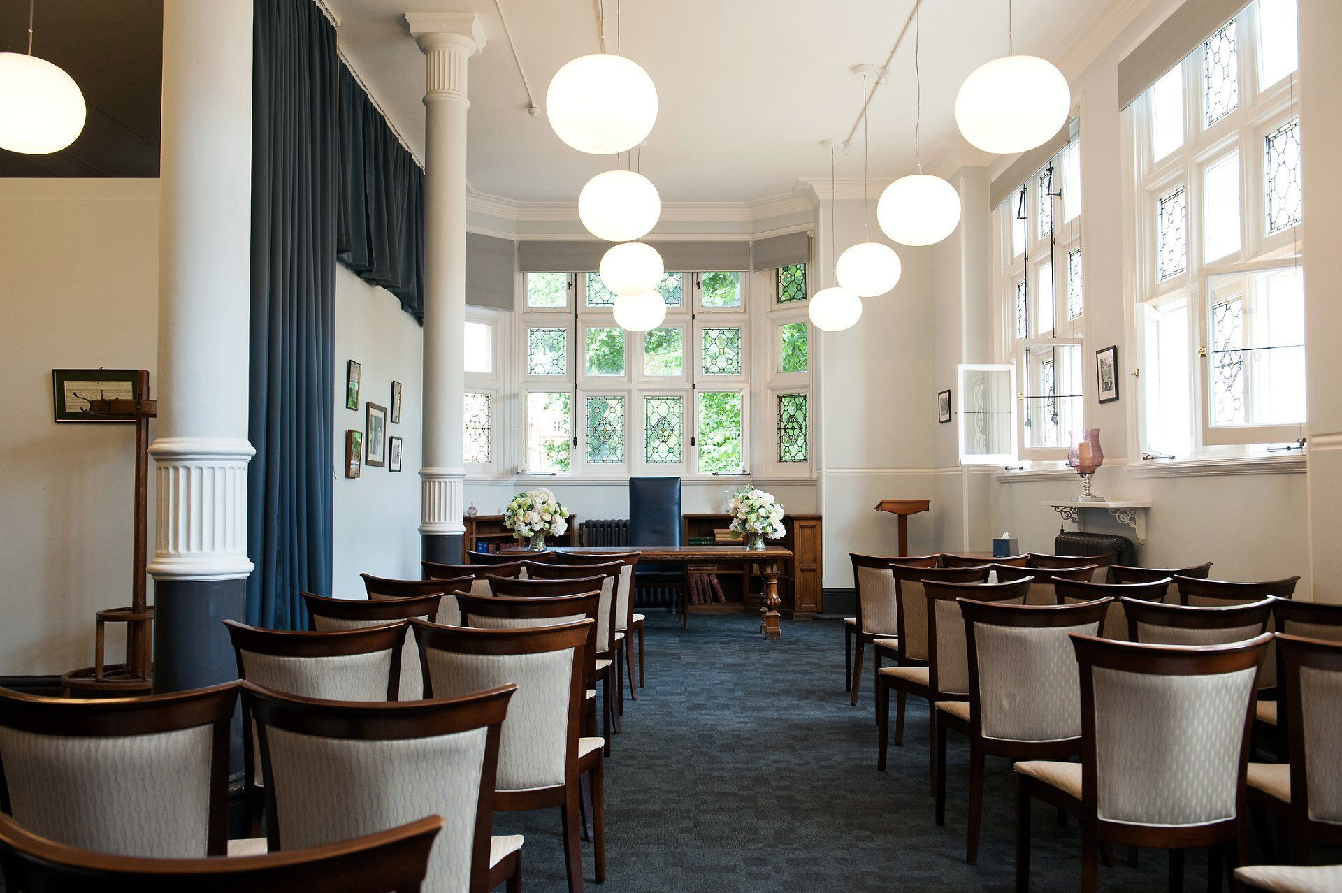 interior the mayfair room at mayfair library the larger of the two ceremony rooms at westminster register office by emma duggan phorography