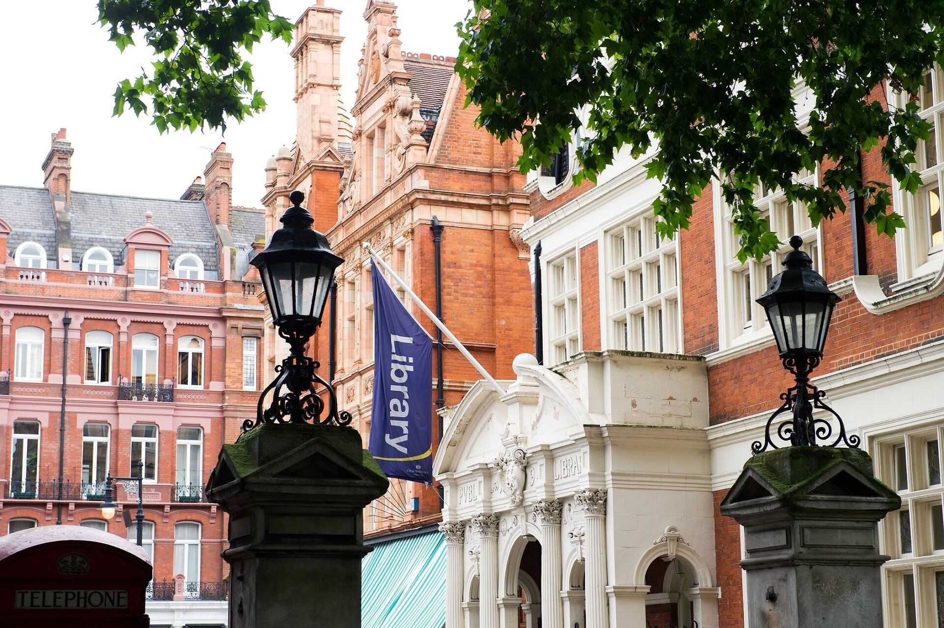 mayfair library on south audley street view from mount street gardens by specialist photographer emma duggan