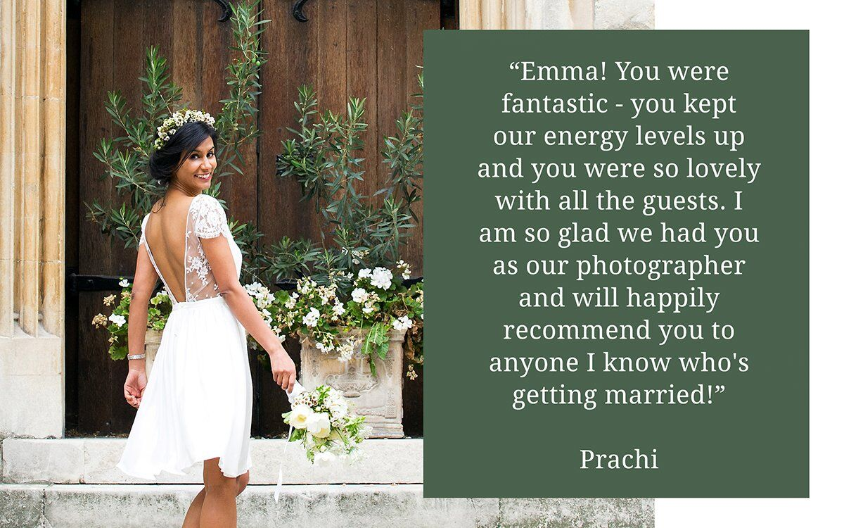 Chelsea Registry Office photography testimonial from a happy bride and groom pictured in the nearby rose garden.