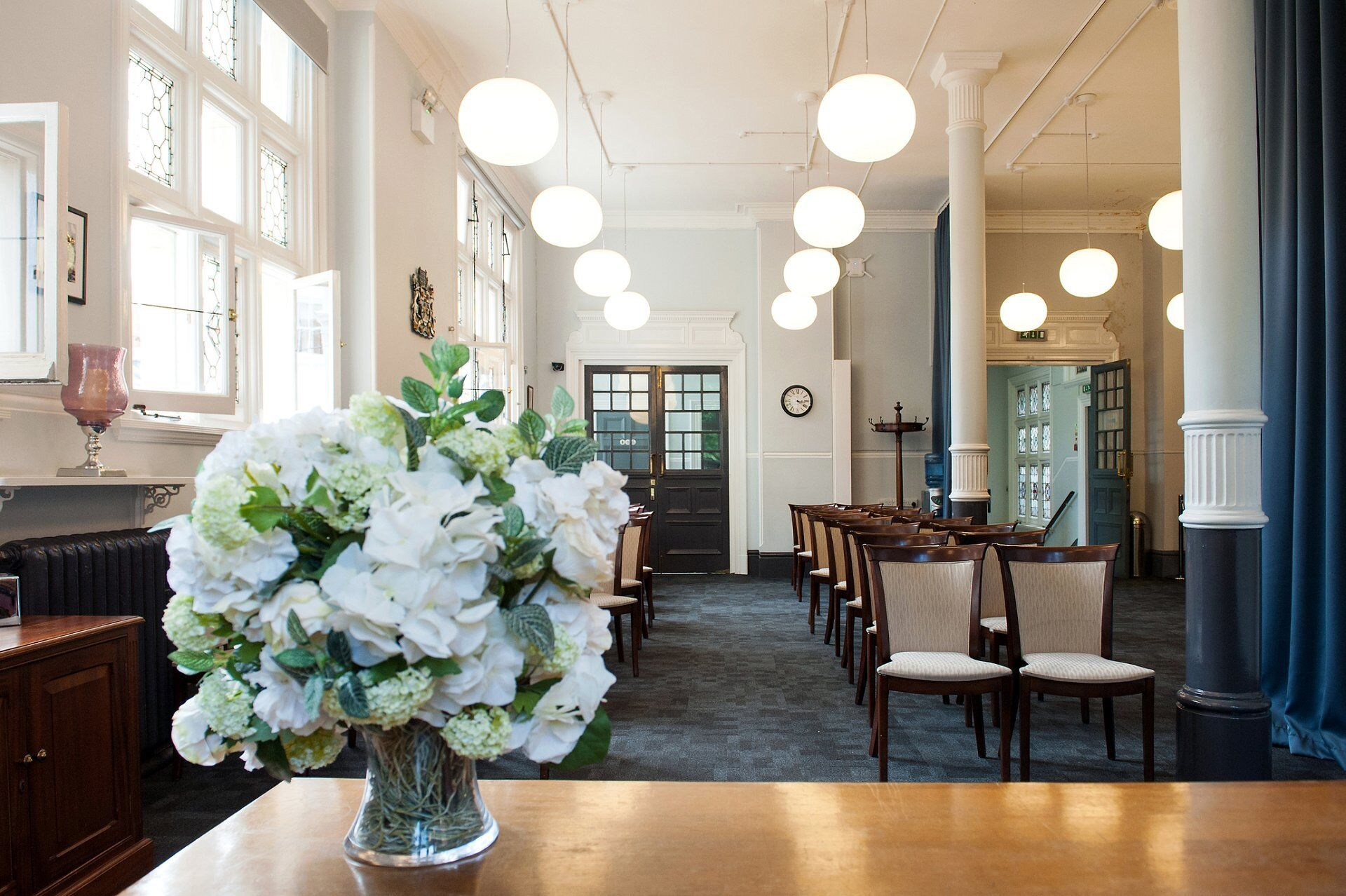 mayfair room ceremony at mayfair library temporary home of westminster register office