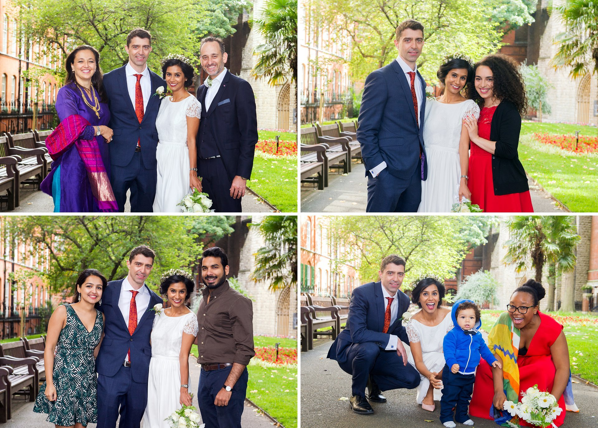 mount street gardens mayfair wedding photographer takes photos of family groups
