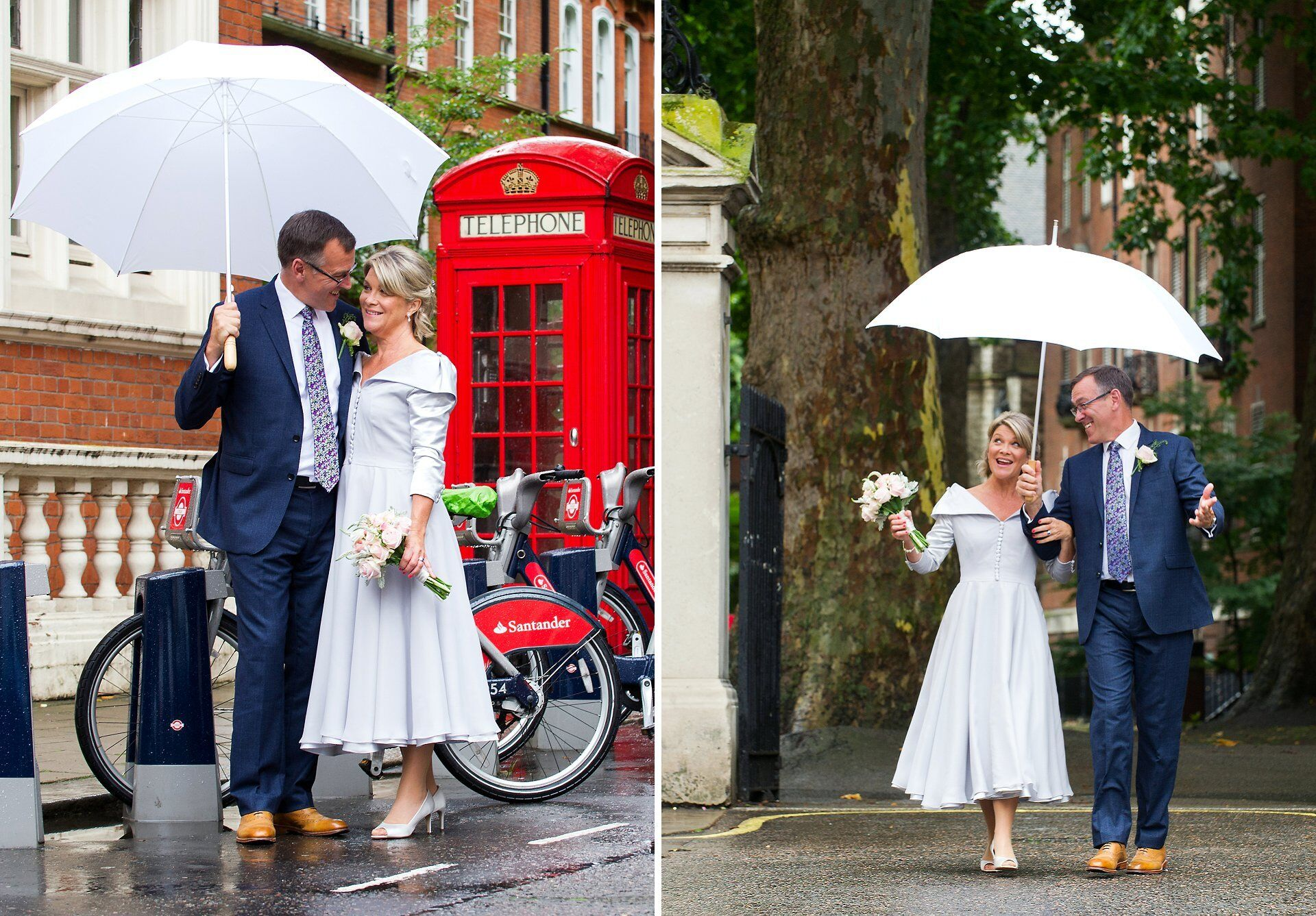 red telephone box wedding photographer