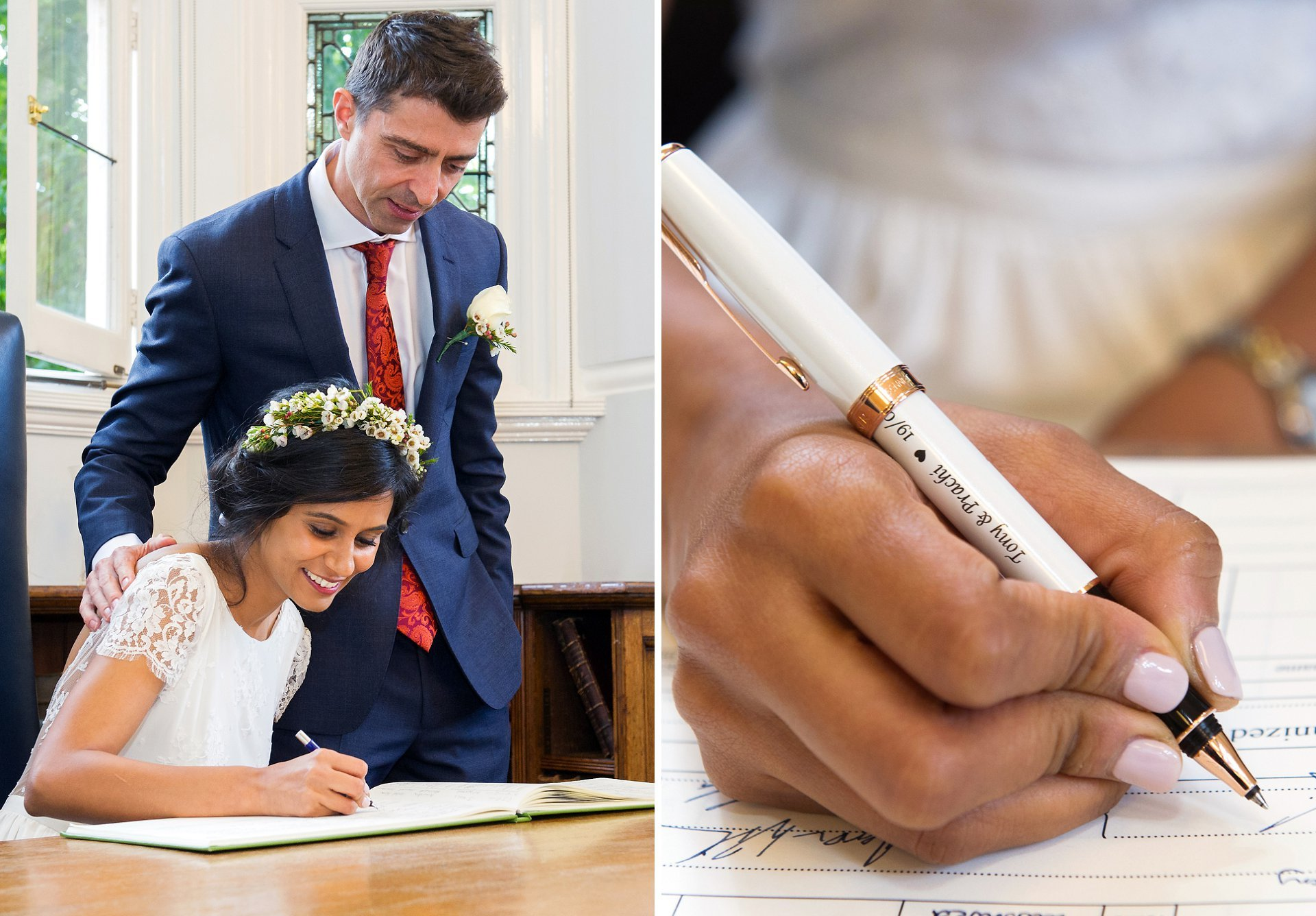 signing of the register by westminster register office wedding photographer emma duggan