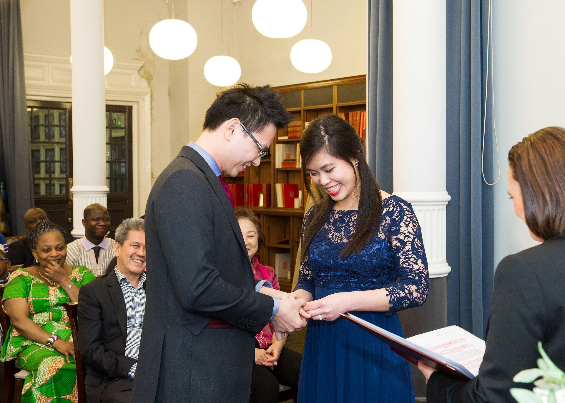 a couple during their westminster register office wedding