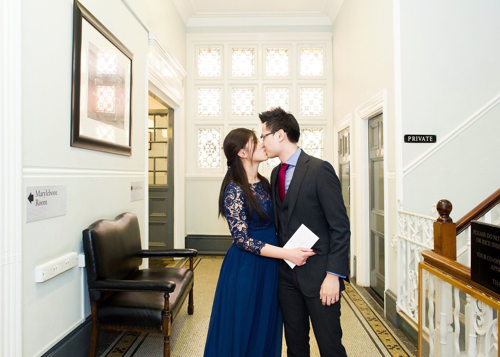 a kiss to seal the marriage at mayfair library