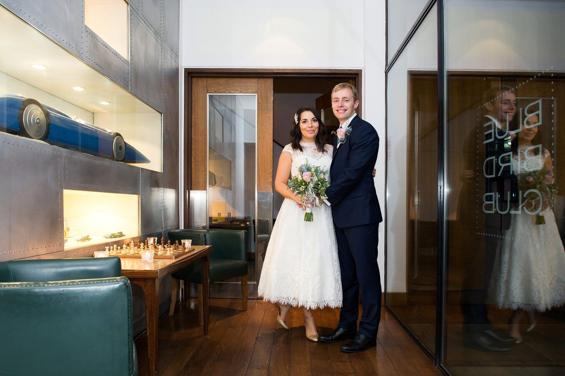 bluebird chelsea wedding photographer a couple in bluebird room private dining after chelsea old town hall wedding
