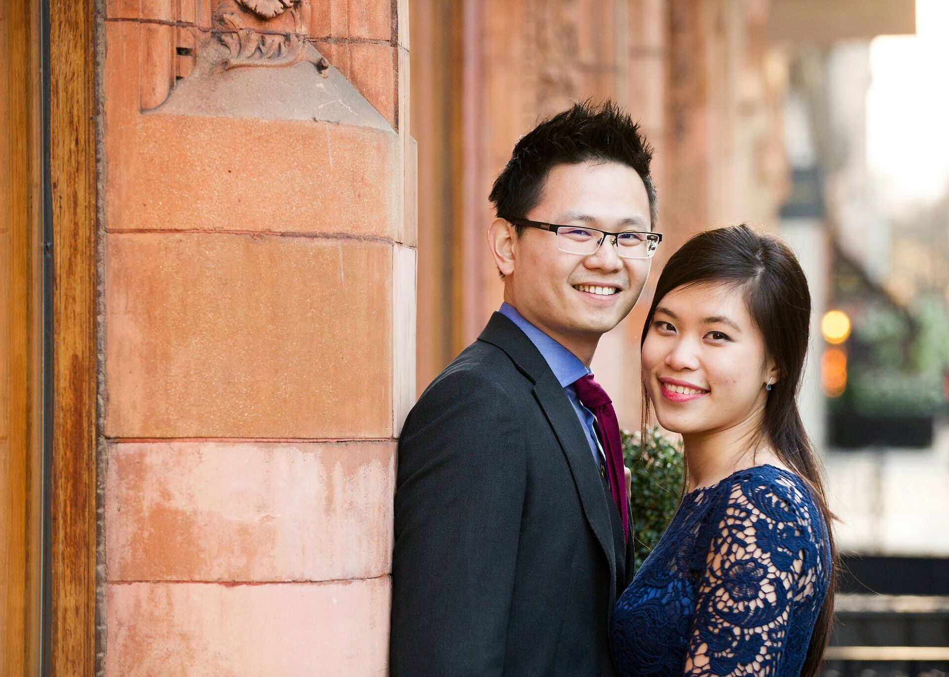 london wedding photographer emma duggan using westminster red brick buildings for bride and groom photos